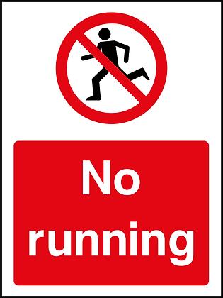 No Running - Portrait