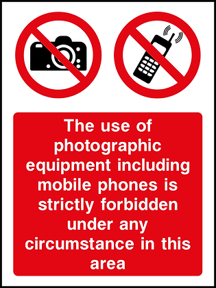 No Photographic Equipment