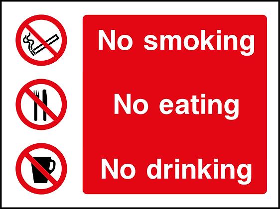 No Smoking, Eating or Drinking