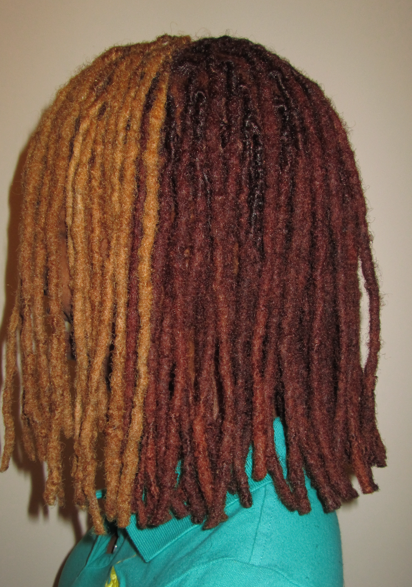red and gold locs