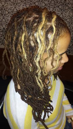 long loc haircolor