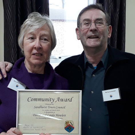 David and Linda won an award for running our church youth group for 25 years