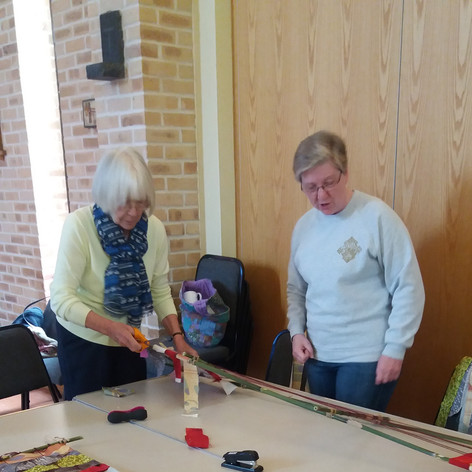 Making a cross at our Good Friday workshop