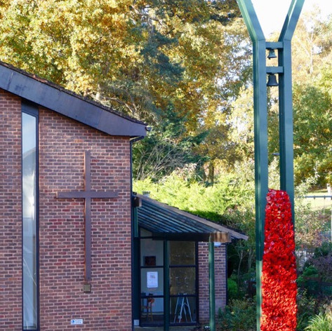 Cascade of poppies made for 100th anniversary of the end of the First World War