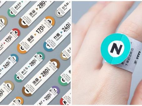 設計欣賞:日本東京 Metro「戒指車票」設計概念!戴於指尖的車票,展開美妙旅程!