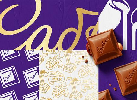 知名朱古力品牌 Cadbury(吉百利)品牌設計更新