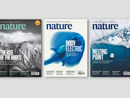 學術設計一定醜嗎?學術權威《自然 nature》雜誌,更換新 LOGOTYPE 字體,小改變.大改善!