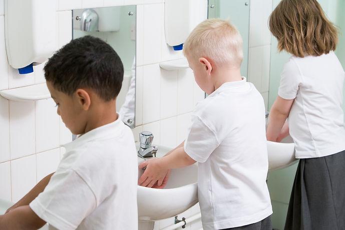 Children Washing Hands