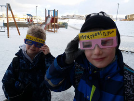 How´s the weather today?                                                In Iceland some 1st graders