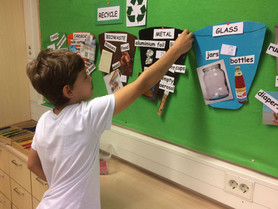 2nd graders practised the basics of recycling: waste sorting