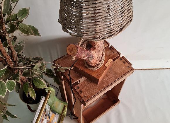 Lámpara chopo y Revistero vintage