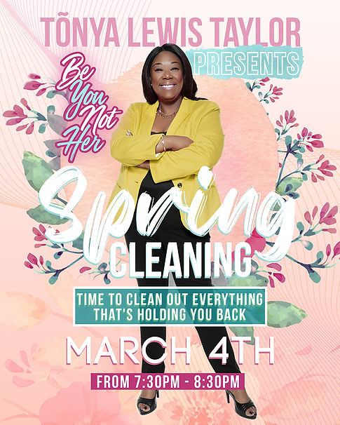 Tõnya Lewis Taylor Spring Cleaning Flyer