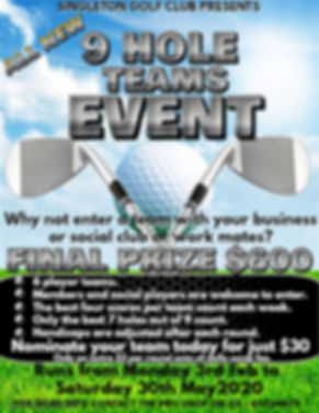 NEW 9 HOLE TEAMS EVENT - Made with Poste