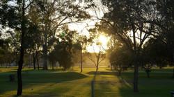 Sunrise over the Course