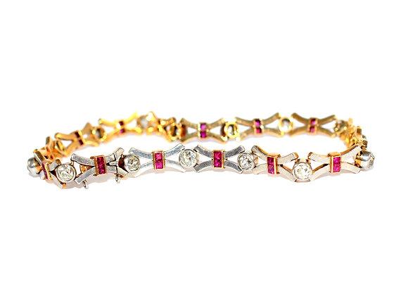 Edwardian Ruby and Diamond Bracelet c.1915