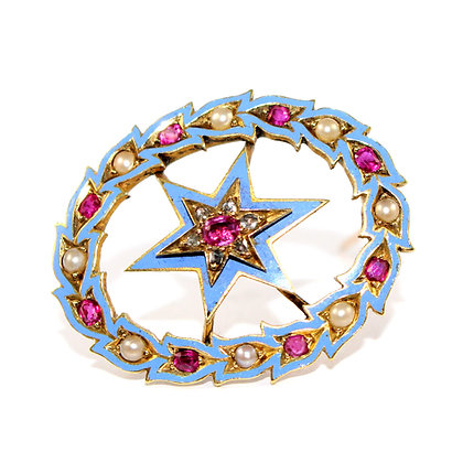 Victorian Star Brooch