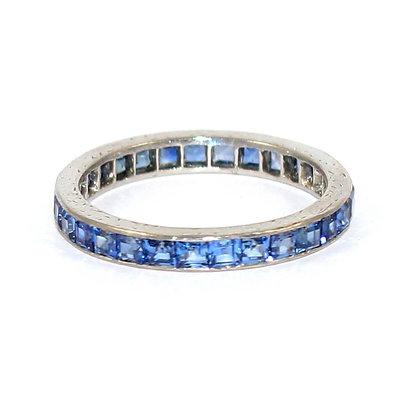 Art Deco Sapphire Eternity Ring size M