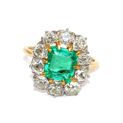 Antique Emerald & Diamond Ring