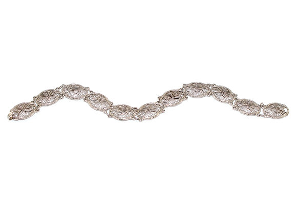 Art Deco White Gold Bracelet