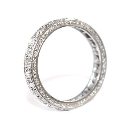 Art Deco Diamond Eternity Ring Size O