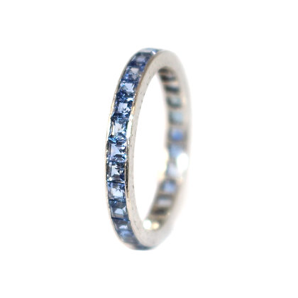 Art Deco Sapphire Full Eternity Ring c.1930 size M