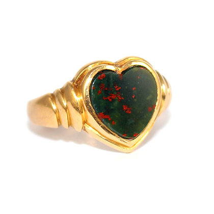 Victorian Heart Signet Ring