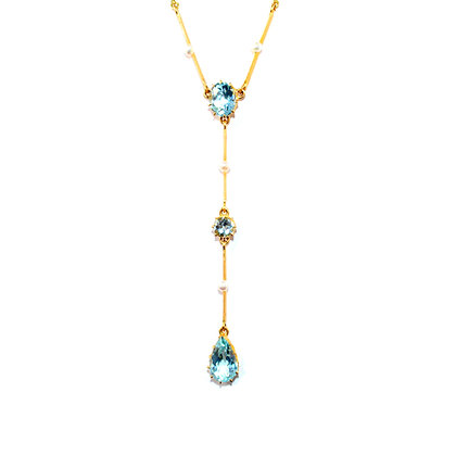 Edwardian Aquamarine Necklace