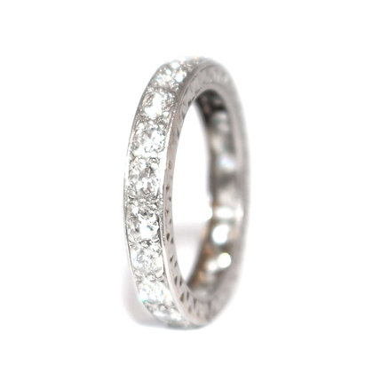 Art Deco Diamond Eternity Ring c.1940 Size K