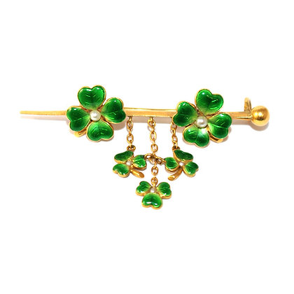 Victorian 4-Leafed Clover Brooch