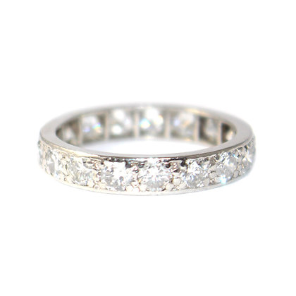 Mid Century Diamond Full Eternity Ring c.1950 size M 1/2