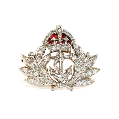 Edwardian Naval Cap Badge