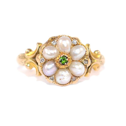 Georgian Seed Pearl Ring