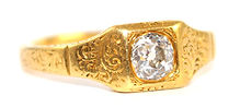 EARLY VICTORIAN-ENGRAVED-OLDCUT-DIAMOND-