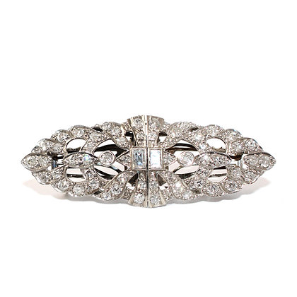 Art Deco Diamond Double Clips