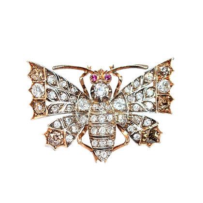 Victorian Diamond Butterfly Brooch