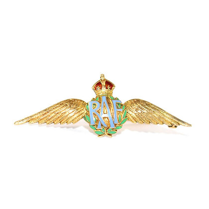 Art Deco RAF Wings Brooch