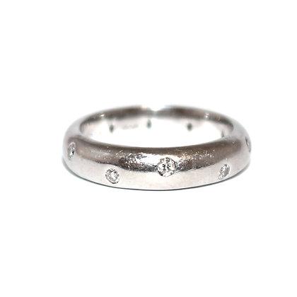 """Tiffany Style"" Diamond Eternity Ring Size L 1/2"