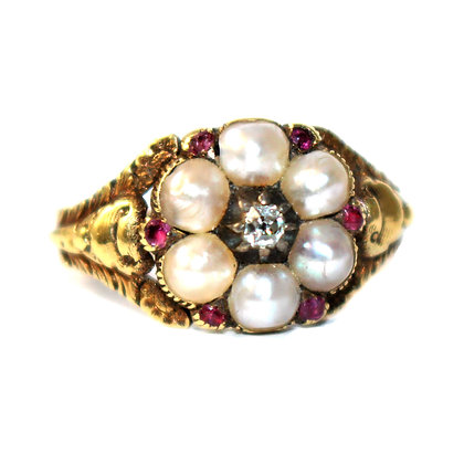 Georgian Pearl Ring