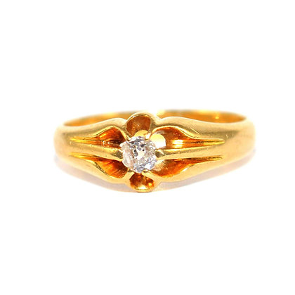 Victorian Diamond Gents Ring