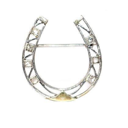 Diamond Horseshoe Brooch