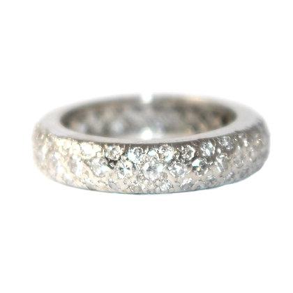 Art Deco Diamond Eternity Ring size 4.75