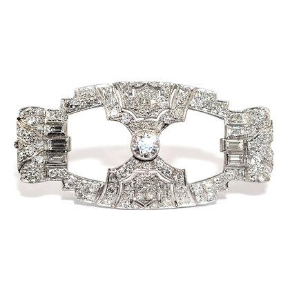 Art Deco Diamond Brooch
