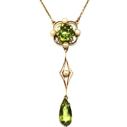 Edwardian Peridot Necklace