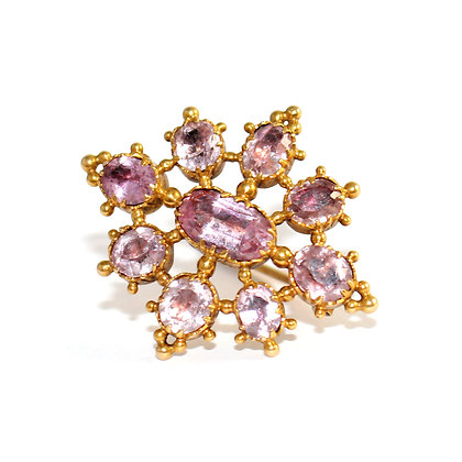 Georgian Pink Topaz Brooch