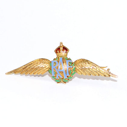 Gold RAF Sweetheart Brooch