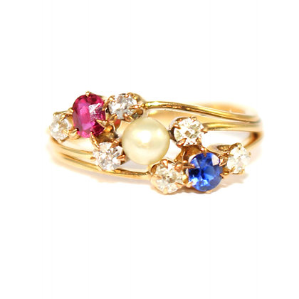 Victorian Tricolor Ring