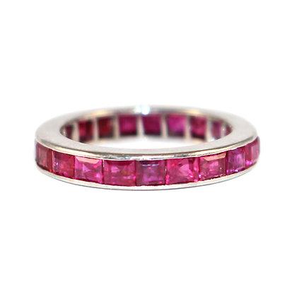 Art Deco Ruby Full Eternity Ring c.1935 size J