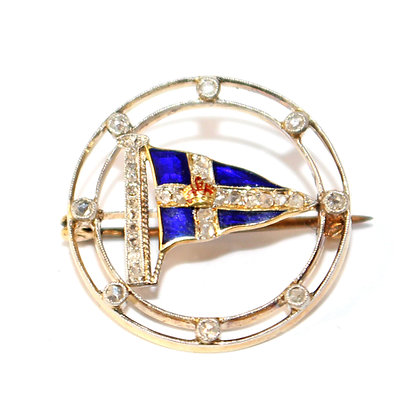 Royal Thames Yacht Club Pennant Brooch