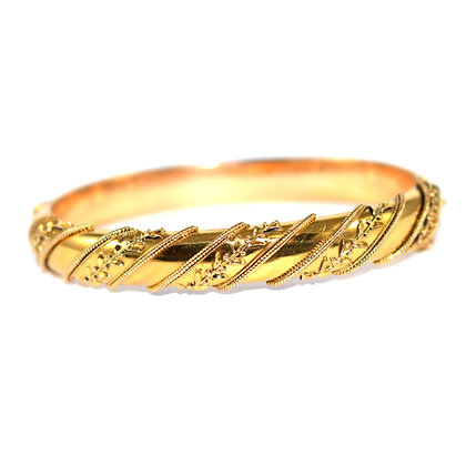 Victorian Etruscan Gold Bangle c.1880