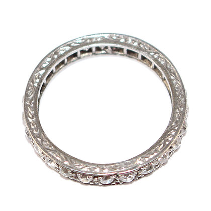Art Deco Diamond Eternity Ring Size 7.5